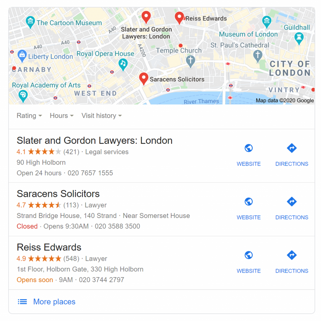 Lawyers In London - Google My Business