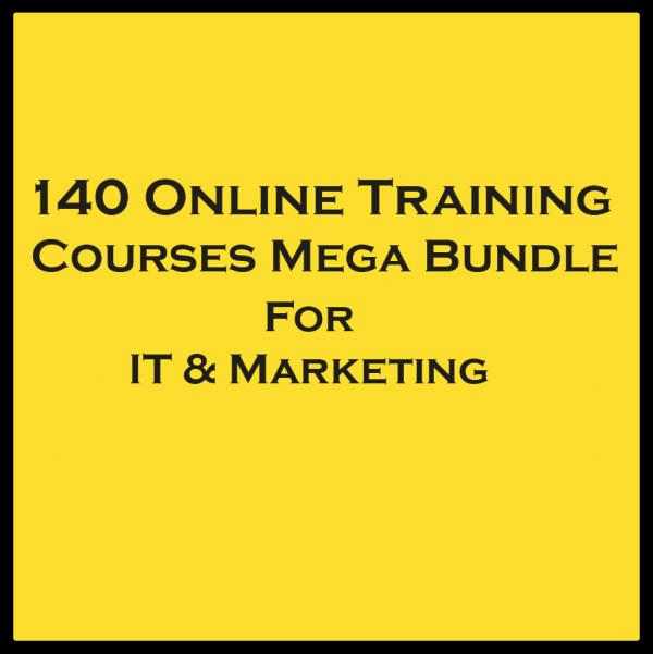 140 Online Training Courses Bundle - IT & Marketing